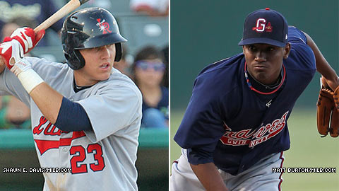 Angels top prospect Mike Trout could face Braves top prospect Julio Teheran.