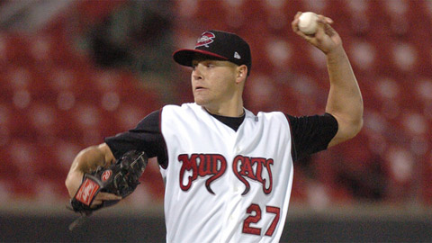 Mike Rayl is second in the Carolina League in innings pitched.